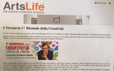 """""""BIENNALE DELLA CREATIVITÀ"""" PALAEXPO DI VERONA  – FEBBRAIO 2014"""