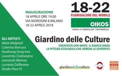 MILANO DESIGN WEEK GIARDINO DELLE CULTURE   MILANO – APRILE 2018